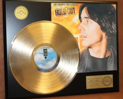 JACKSON-BROWNE-GOLD-LP-RECORD-DISPLAY-ACTUALLY-PLAYS-THE-SONG-BOULEVARD-171017342915