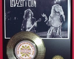 LED-ZEPPELIN-GOLD-RECORD-AWARD-STYLE-MEMORABILIA-LASER-ETCHED-WSONG-LYRICS-ART-180869637265