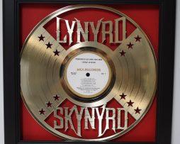 Lynaryd-Skynaryd-Framed-Laser-Cut-Gold-Plated-Vinyl-Record-Shadowbox-Wallart-182329523845