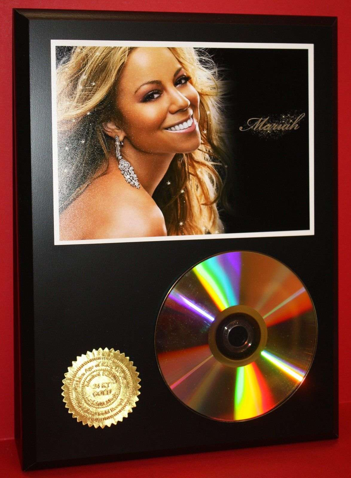 mariah carey 24kt gold cd disc collectible rare award quality plaque gift gold record awards. Black Bedroom Furniture Sets. Home Design Ideas