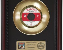 MONKEES-DAYDREAM-BELIEVER-GOLD-RECORD-FRAMED-CHERRYWOOD-DISPLAY-K1-172204389865