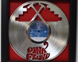 Pink-Floyd-The-Wall-Framed-Laser-Cut-Platinum-Vinyl-Record-in-Shadowbox-Wallart-172386642885