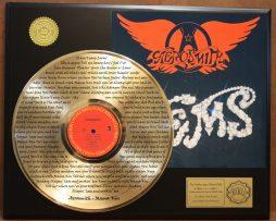 AEROSMITH-MAMA-KIN-LIMITED-EDITION-GOLD-LP-RECORD-LASER-ETCHED-W-LYRICS-171368343216
