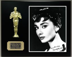 AUDREY-HEPBURN-Reproduction-Signed-8-x-10-Photo-Limited-Edition-Oscar-Display-171889574166