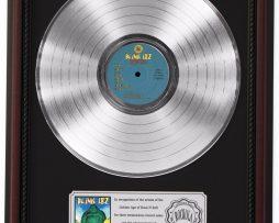 BLINK-182-BUDDHA-PLATINUM-LP-RECORD-FRAMED-CHERRYWOOD-DISPLAY-K1-172211638486