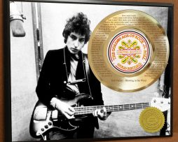 BOB-DYLAN-LASER-ETCHED-W-LYRICS-TO-BLOWIN-IN-THE-WIND-POSTER-ART-GOLD-RECORD-171387549956