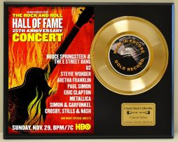 BRUCE-SPRINGSTEEN-HALL-OF-FAME-LTD-EDITION-CONCERT-POSTER-SERIES-GOLD-45-DISPLAY-181427822206