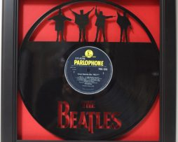 Beatles-Help-Framed-Laser-Cut-Black-Vinyl-Record-in-Shadowbox-Wallart-172386178376