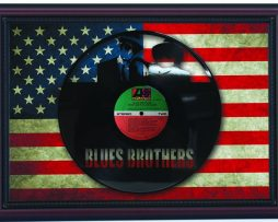 Blues-Brothers-Cherry-Framed-Laser-Cut-Black-Vinyl-Record-Flag-K1-172344641286