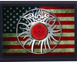 Bob-Dylan-Eye-Logo-Hwy-61-Cherry-Framed-Laser-Cut-Platinum-Record-Flag-K1-172344586206