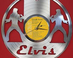 ELVIS-PRESLEY-2-LASER-CUT-PLATINUM-PLATED-LP-RECORD-WALL-CLOCK-FREE-SHIPPING-171964799876