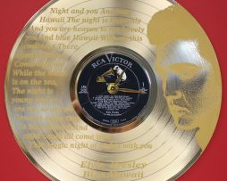 ELVIS-PRESLEY-2-LASER-ETCHED-GOLD-PLATED-LP-RECORD-WALL-CLOCK-FREE-SHIPPING-181893072696