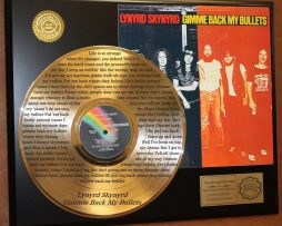 LYNYRD-SKYNYRD-GOLD-LP-RECORD-LASER-ETCHED-W-LYRICS-TO-GIMME-BACK-MY-BULLETS-181003546626