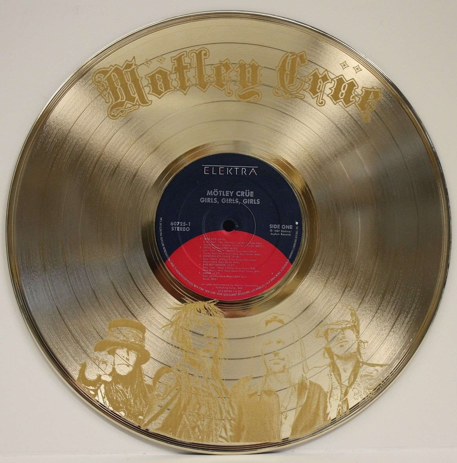 Wall Art Gold Record Awards Album And Disc Collectible