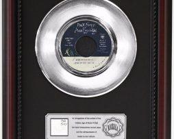PINK-FLOYD-WALL-PLATINUM-FRAMED-RECORD-CHERRYWOOD-DISPLAY-K1-172204460926