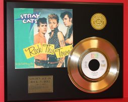 STRAY-CATS-ROCK-THIS-TOWN-LTD-EDITION-GOLD-45-RECORD-SLEEVE-ART-DISPLAY-171361779376