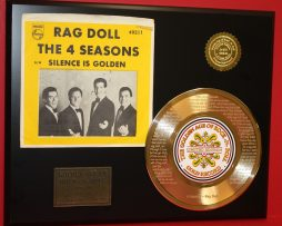 4-SEASONS-ETCHED-RAG-DOLL-FRANKIE-VALI-GOLD-RECORD-LIMITED-EDITION-DISPLAY-181439727447