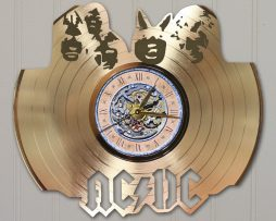 ACDC-CUSTOM-LASER-CUT-GOLD-LP-RECORD-WALL-CLOCK-FREE-SHIPPING-171998133467