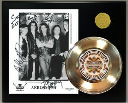 AEROSMITH-GOLD-45-RECORD-SIGNATURE-SERIES-LTD-EDITION-DISPLAY-FREE-US-SHIPPING-181320720167