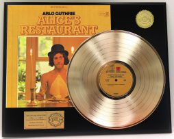 ARLO-GUTHRIE-GOLD-LP-LTD-EDITION-RECORD-DISPLAY-ALICES-RESTAURANT-SHIPS-FREE-181360624947