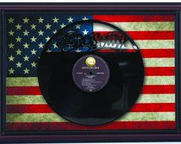Aerosmith-Pump-Cherry-Framed-Laser-Cut-Black-Vinyl-Record-Flag-K1-182283850437