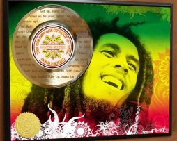 BOB-MARLEY-LASER-ETCHED-W-LYRICS-TO-GET-UP-STAND-UP-POSTER-ART-GOLD-RECORD-171387554277