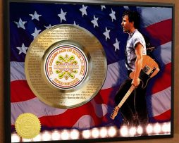 BRUCE-SPRINGSTEEN-ETCHED-W-LYRICS-TO-BORN-IN-THE-USA-POSTER-ART-GOLD-RECORD-171387569167