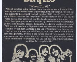 Beatles-When-Im-64-Laser-Etched-Lyric-Band-Art-Black-Leatherette-Plaque-C3-182300563007
