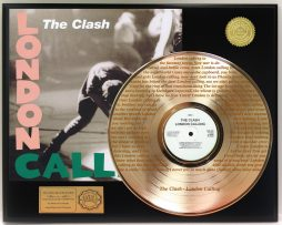 CLASH-GOLD-LP-RECORD-DISPLAY-LASER-ETCHED-W-LYRICS-OF-HIT-SONG-181319985957