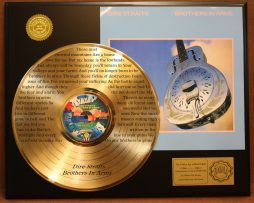 DIRE-STRAITS-LIMITED-GOLD-LP-RECORD-LASER-ETCHED-W-LYRICS-TO-BROTHERS-IN-ARMS-181003470457