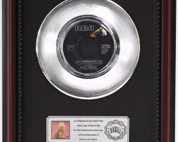 DOLLY-PARTON-WILL-ALWAYS-LOVE-YOU-PLATINUM-RECORD-FRAMED-CHERRYWOOD-DISPLAY-K1-172204278557