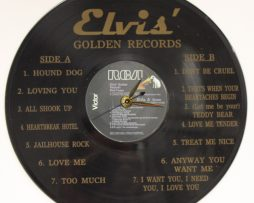 ELVIS-PRESLEY-4-LASER-ETCHED-CUT-VINYL-LP-RECORD-WALL-CLOCK-FREE-SHIPPING-181902160337