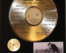 ELVIS-PRESLEY-GOLDEN-RECORDS-GOLD-LP-LTD-EDITION-RECORD-CLOCK-DISPLAY-181423537797