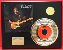 ERIC-CLAPTON-24kt-GOLD-45-RARE-RECORD-AFTER-MIDNIGHT-LTD-EDITION-ONLY-500-170939675497