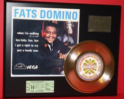 FATS-DOMINO-CONCERT-TICKET-SERIES-GOLD-RECORD-LTD-EDITION-DISPLAY-181428040477