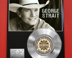 GEORGE-STRAIT-PLATINUM-RECORD-LTD-EDITION-RARE-COLLECTIBLE-MUSIC-GIFT-AWARD-170858310397