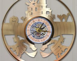 HALLOWEEN-LASER-CUT-GOLD-PLATED-LP-RECORD-WALL-CLOCK-FREE-SHIPPING-171958537157