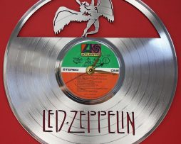 LED-ZEPPELIN-2-LASER-CUT-PLATINUM-PLATED-LP-RECORD-WALL-CLOCK-FREE-SHIPPING-181899182027