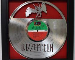 Led-Zeppelin-ZoSo-LP-Framed-Laser-Cut-Platinum-Vinyl-Record-in-Shadowbox-Wallart-182337055647