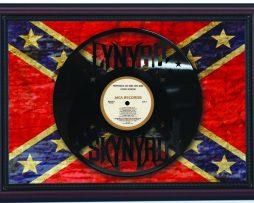 Lynyrd-Skynyrd-Cherry-Framed-Laser-Cut-Black-Vinyl-Record-Flag-K1-182283886907