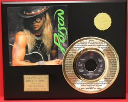 POISON-24kt-GOLD-45-RECORD-FREE-SHIPPING-LTD-EDITION-UNIQUE-MUSIC-GIFT-170939678877