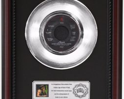 POISON-EVERY-ROSE-HAS-ITS-THORN-PLATINUM-FRAMED-RECORD-CHERRYWOOD-DISPLAY-K1-182129118857