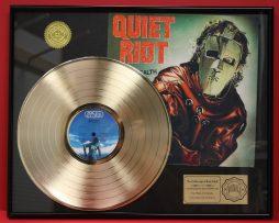 QUIET-RIOT-CUSTOM-FRAMED-PREMIUM-GOLD-AWARD-QUALITY-RECORD-DISPLAY-170923494687