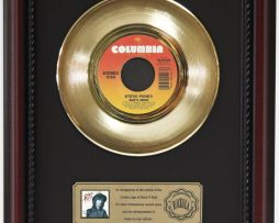 STEVE-PERRY-SHES-MINE-GOLD-RECORD-FRAMED-CHERRYWOOD-DISPLAY-K1-182129068137