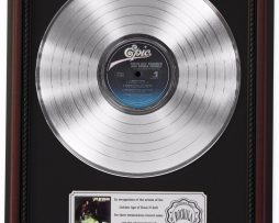 STEVIE-RAY-VAUGHAN-DOUBLE-PLATINUM-LP-RECORD-FRAMED-CHERRYWOOD-DISPLAY-K1-182138557517