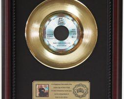STEVIE-WONDER-PART-TIME-LOVER-GOLD-RECORD-FRAMED-CHERRYWOOD-DISPLAY-K1-182129073807