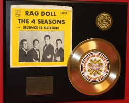 4-SEASONS-FRANKIE-VALI-RAG-DOLL-GOLD-CLAD-45-RECORD-LIMITED-EDITION-DISPLAY-170811268848