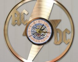 ACDC-CUSTOM-LASER-CUT-GOLD-LP-RECORD-WALL-CLOCK-FREE-SHIPPING-171998134748