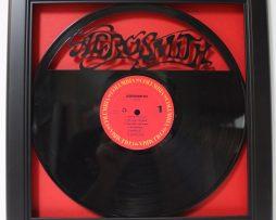 Aerosmith-Framed-Laser-Cut-Black-Vinyl-Record-in-Shadowbox-Wallart-182327901638