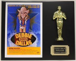 BAMBI-WOODS-DEBBIE-DOES-DALLAS-LTD-EDITION-OSCAR-MOVIE-DISPLAY-FREE-SHIPPING-181468034778